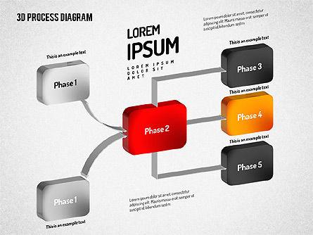 3D Flow Chart, Slide 8, 01511, Process Diagrams — PoweredTemplate.com