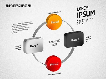 3D Flow Chart, Slide 9, 01511, Process Diagrams — PoweredTemplate.com