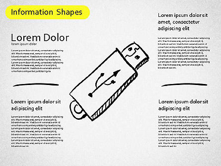 Information Shapes, Slide 12, 01513, Shapes — PoweredTemplate.com