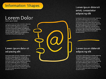 Information Shapes, Slide 14, 01513, Shapes — PoweredTemplate.com