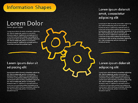 Information Shapes, Slide 16, 01513, Shapes — PoweredTemplate.com