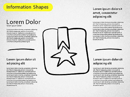 Information Shapes, Slide 2, 01513, Shapes — PoweredTemplate.com