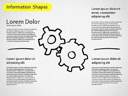 Information Shapes, Slide 3, 01513, Shapes — PoweredTemplate.com