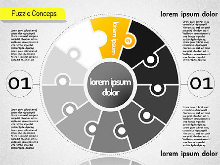 Staged Puzzle Concepts, Slide 2, 01516, Stage Diagrams — PoweredTemplate.com