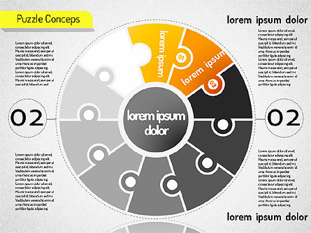 Staged Puzzle Concepts, Slide 3, 01516, Stage Diagrams — PoweredTemplate.com