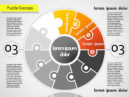Staged Puzzle Concepts, Slide 4, 01516, Stage Diagrams — PoweredTemplate.com