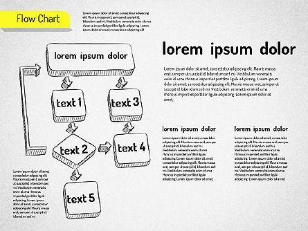 Hand Drawn Flowchart, Slide 5, 01517, Flow Charts — PoweredTemplate.com