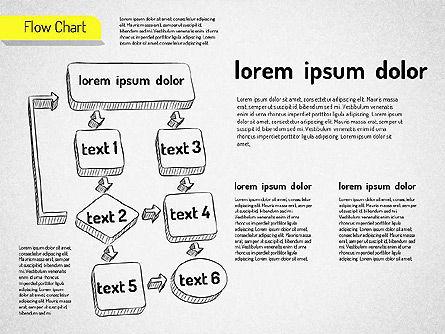 Hand Drawn Flowchart, Slide 6, 01517, Flow Charts — PoweredTemplate.com