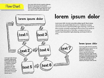 Hand Drawn Flowchart, Slide 7, 01517, Flow Charts — PoweredTemplate.com