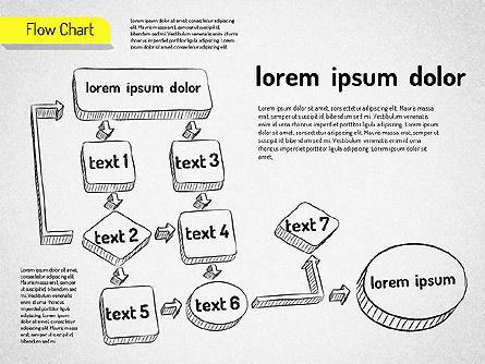 Hand Drawn Flowchart, Slide 8, 01517, Flow Charts — PoweredTemplate.com