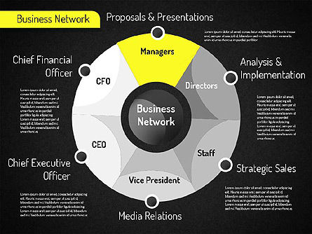 Business Network Diagram, Slide 13, 01518, Business Models — PoweredTemplate.com