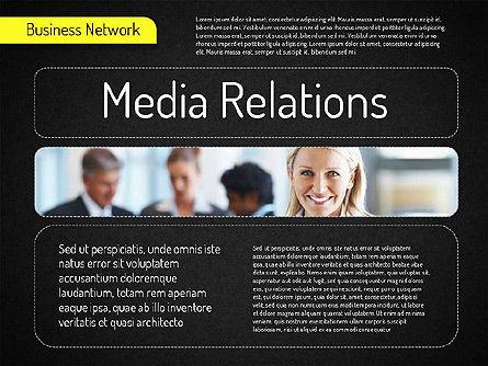 Business Network Diagram, Slide 14, 01518, Business Models — PoweredTemplate.com