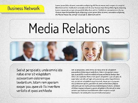 Business Network Diagram, Slide 8, 01518, Business Models — PoweredTemplate.com
