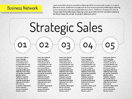Business Network Diagram, Slide 9, 01518, Business Models — PoweredTemplate.com