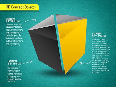 3D Cube Stages Shapes, Slide 10, 01524, Shapes — PoweredTemplate.com
