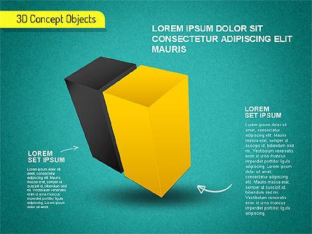 3D Cube Stages Shapes, Slide 11, 01524, Shapes — PoweredTemplate.com