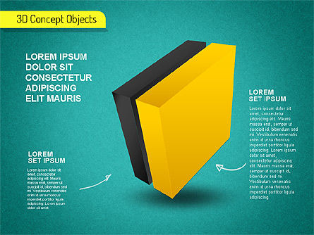 3D Cube Stages Shapes, Slide 13, 01524, Shapes — PoweredTemplate.com