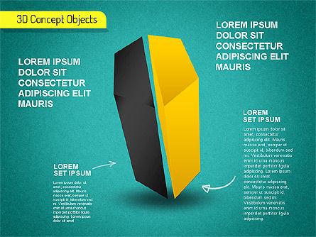 3D Cube Stages Shapes, Slide 15, 01524, Shapes — PoweredTemplate.com