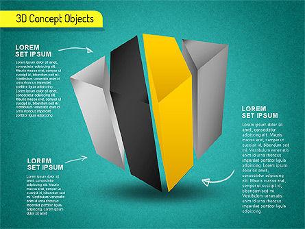 3D Cube Stages Shapes, Slide 16, 01524, Shapes — PoweredTemplate.com