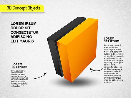 3D Cube Stages Shapes, Slide 5, 01524, Shapes — PoweredTemplate.com