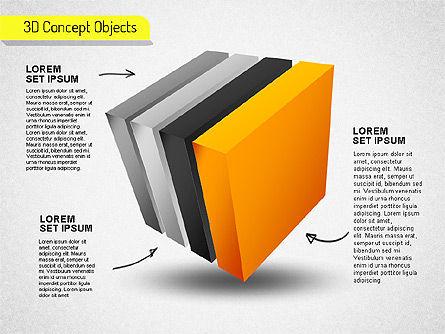 3D Cube Stages Shapes, Slide 6, 01524, Shapes — PoweredTemplate.com