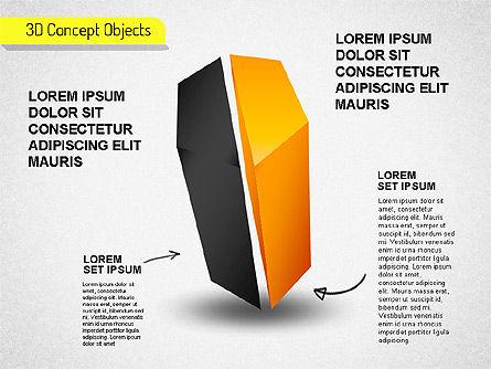 3D Cube Stages Shapes, Slide 7, 01524, Shapes — PoweredTemplate.com