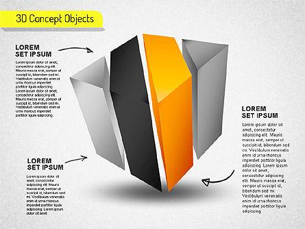 3D Cube Stages Shapes, Slide 8, 01524, Shapes — PoweredTemplate.com