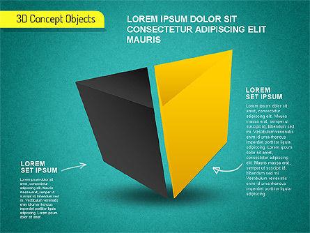 3D Cube Stages Shapes, Slide 9, 01524, Shapes — PoweredTemplate.com
