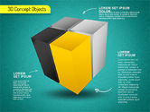 3D Cube Stages Shapes#12
