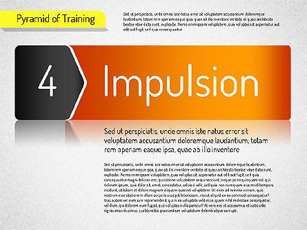 Pyramid of Training, Slide 10, 01525, Stage Diagrams — PoweredTemplate.com