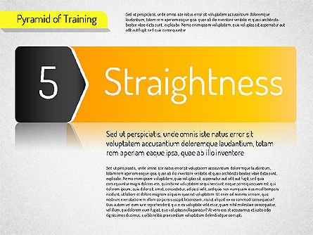 Pyramid of Training, Slide 11, 01525, Stage Diagrams — PoweredTemplate.com