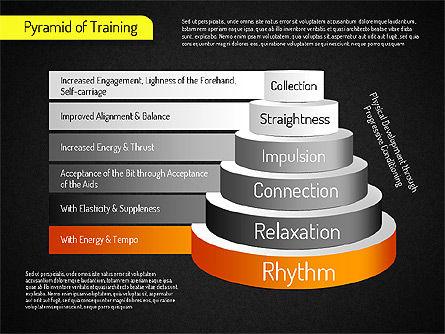 Pyramid of Training, Slide 13, 01525, Stage Diagrams — PoweredTemplate.com