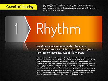 Pyramid of Training, Slide 14, 01525, Stage Diagrams — PoweredTemplate.com