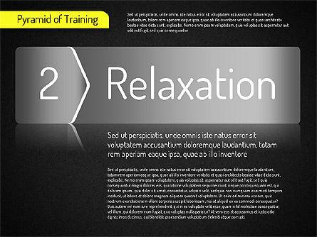 Pyramid of Training, Slide 15, 01525, Stage Diagrams — PoweredTemplate.com