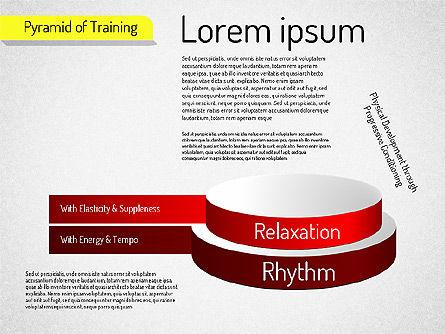 Pyramid of Training, Slide 2, 01525, Stage Diagrams — PoweredTemplate.com