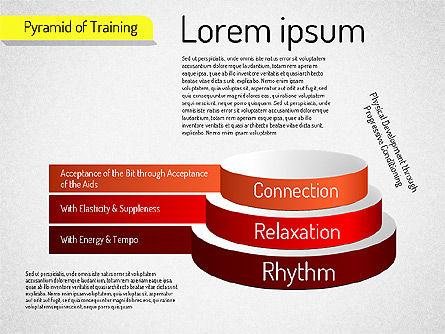 Pyramid of Training, Slide 3, 01525, Stage Diagrams — PoweredTemplate.com