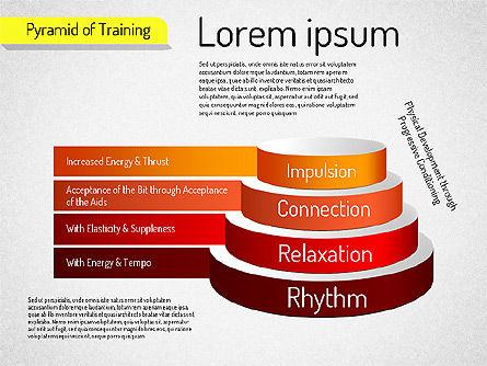 Pyramid of Training, Slide 4, 01525, Stage Diagrams — PoweredTemplate.com