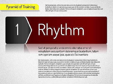 Pyramid of Training, Slide 7, 01525, Stage Diagrams — PoweredTemplate.com