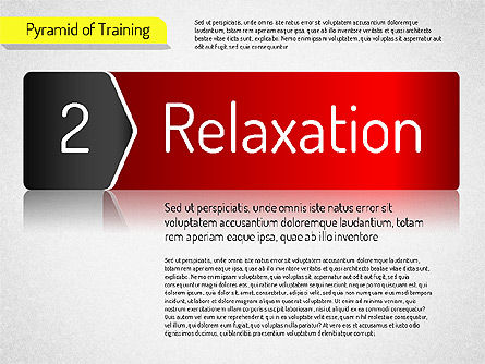 Pyramid of Training, Slide 8, 01525, Stage Diagrams — PoweredTemplate.com