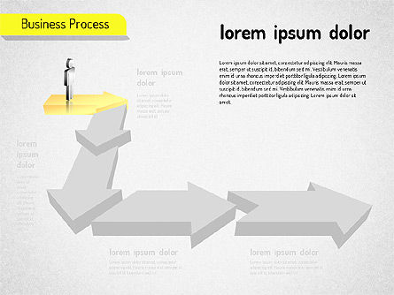 Business Process Arrows, Slide 2, 01527, Process Diagrams — PoweredTemplate.com