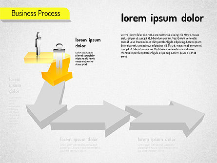 Business Process Arrows, Slide 3, 01527, Process Diagrams — PoweredTemplate.com