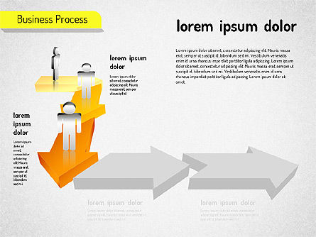 Business Process Arrows, Slide 4, 01527, Process Diagrams — PoweredTemplate.com