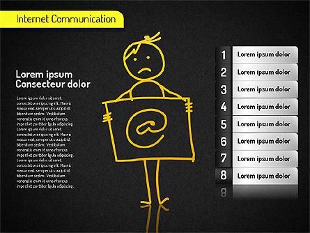 Internet Communication Shapes, Slide 10, 01529, Shapes — PoweredTemplate.com