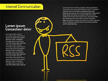 Internet Communication Shapes, Slide 12, 01529, Shapes — PoweredTemplate.com