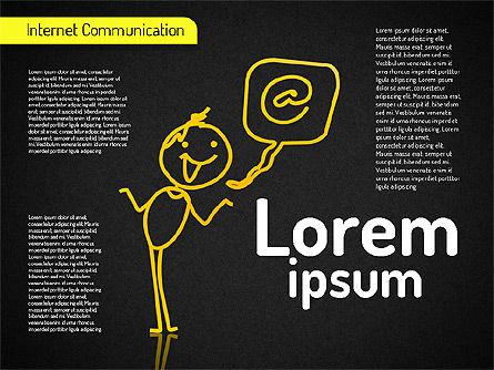 Internet Communication Shapes, Slide 13, 01529, Shapes — PoweredTemplate.com