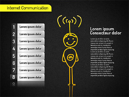 Internet Communication Shapes, Slide 14, 01529, Shapes — PoweredTemplate.com