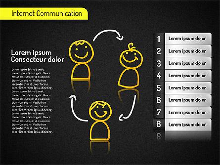 Internet Communication Shapes, Slide 16, 01529, Shapes — PoweredTemplate.com