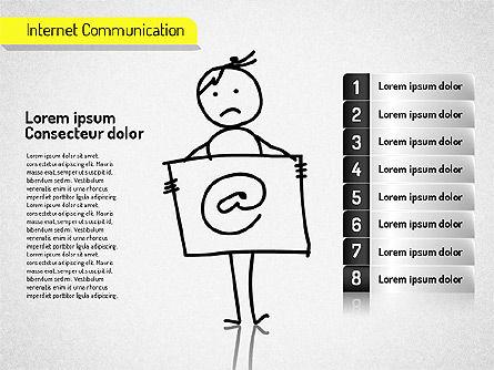 Internet Communication Shapes Slide 2