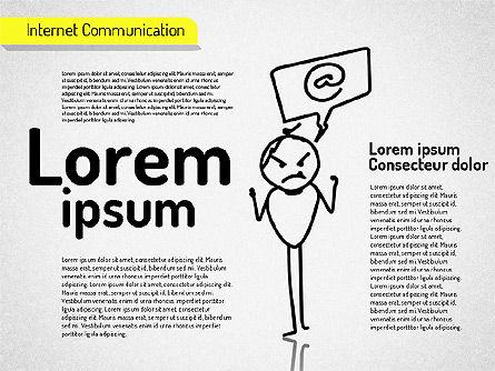 Internet Communication Shapes Slide 3