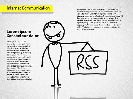 Internet Communication Shapes Slide 4